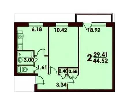Срочно продаю 2 ком. квартиру в жилом состоянии на берегу Сходни - Фото 1