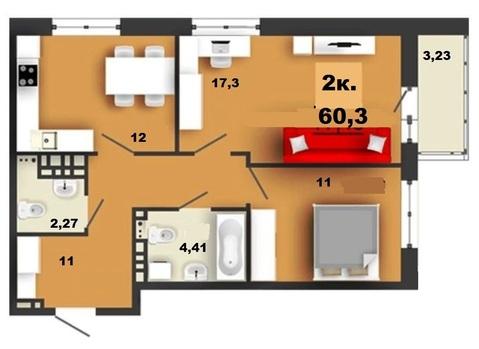 2 комнатная квартира в Европейском! - Фото 1