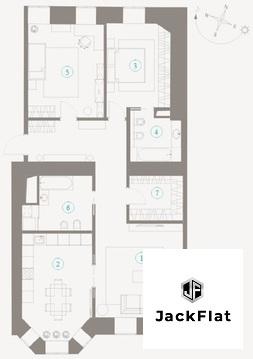 """ЖК """"Полянка/44"""" - квартира 102 кв.м, особняк Мускат, 3 спальни, 8 окон - Фото 1"""