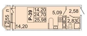 2 560 640 Руб., Продам студию. Кондратьевский пр-кт, д.58 к.2-1, Купить квартиру в Санкт-Петербурге по недорогой цене, ID объекта - 317898574 - Фото 1