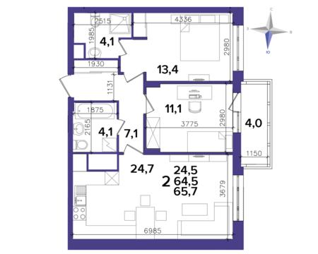 Продажа двухкомнатной квартиры в Центре, ул. Кальная 79 - Фото 3