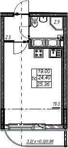 Объявление №47735540: Квартира 1 комн. Шушары, Валдайская ул., 1,