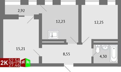 3 310 000 Руб., Продажа двухкомнатная квартира 52.54м2 в ЖК Суходольский квартал гп-1, ., Купить квартиру в Екатеринбурге по недорогой цене, ID объекта - 315127560 - Фото 1
