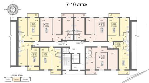 1к Квартира в новостройке с инд.отоплением - Фото 3