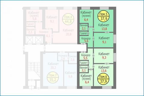 Блок квартир-апартаментов общей площадью 75,8 кв.м. Свободная продажа - Фото 3