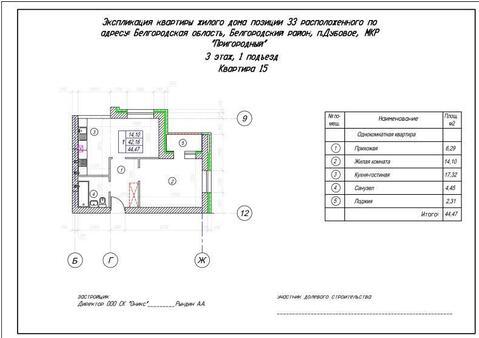 Продажа квартиры, Дубовое, Белгородский район, Благодатная улица - Фото 1