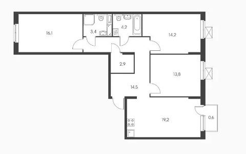 Объявление №50529939: Квартира 3 комн. Обнинск, ул. Курчатова, к3,