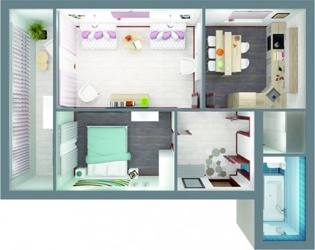 2-комнатная квартира на ул.Офицерская, д.61 - Фото 3