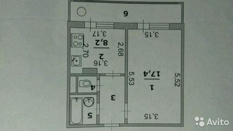 Однокомнатная с инд.отоплением!, Купить квартиру в Белгороде по недорогой цене, ID объекта - 319818867 - Фото 1