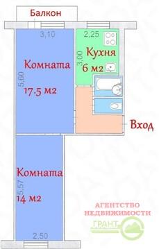 2-х ком. квартира 45 м2 в самом центре Белгорода, Купить квартиру в Белгороде по недорогой цене, ID объекта - 323840543 - Фото 1