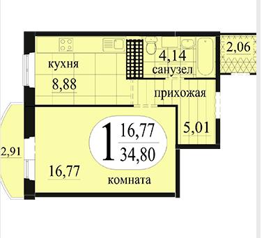 Продам просторную 1к квартиру в Антипино - Фото 4