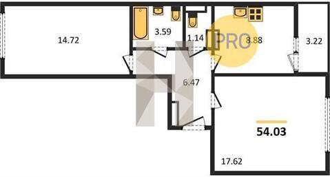 Продаётся 2 комнатная квартира дешевле чем у затройщика - Фото 4