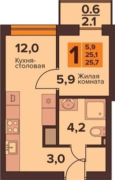 Продажа квартиры, Калининград, Ул. Генерала Толстикова - Фото 1