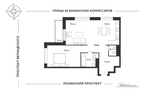 Продам 2-к квартиру, Москва г, Ленинский проспект 154к2с1 - Фото 3