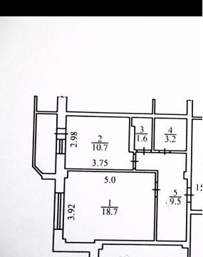 Продается 1-комнатная квартира 43.7 кв.м. на ул. Пухова - Фото 1
