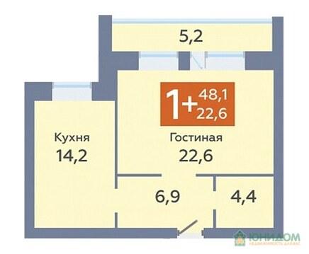 1 комнатная квартира в новом доме, пр. Солнечный - Фото 2
