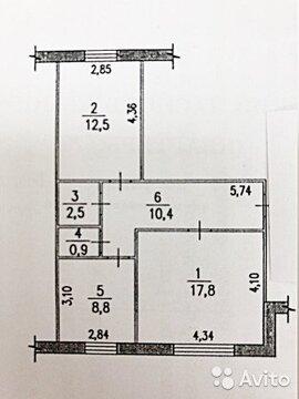 2-к квартира, 53 м, 1/5 эт. - Фото 2