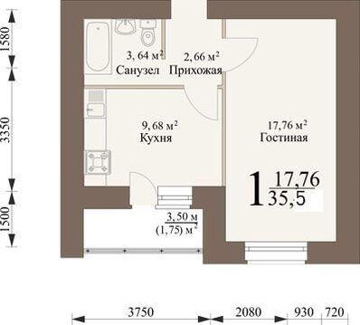Продажа квартиры, Засечное, Пензенский район - Фото 1