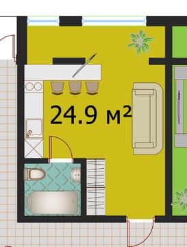 1-комнатная квартира студийной планировки в самом центре города - Фото 2