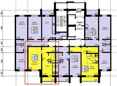 Однокомнатная квартира 43м в Академ Риверсайд