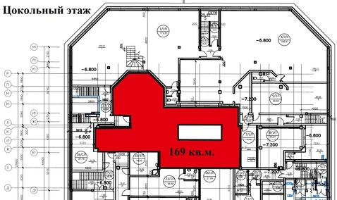 Трехуровневое псн в новом ЖК на первой линии у м.Гагаринская 633 кв.м. - Фото 4