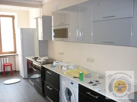 Квартира без мебели, встроенная кухня, холодильник - Фото 3