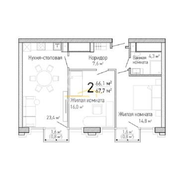 Квартира 2-комнатная, г. екатеринбург, центр - Фото 4