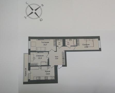 Трехкомнатная квартира на ул. Коммунистическая - Фото 3