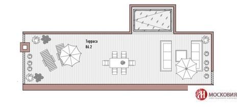 Четырехкомнатная квартира. Свободная планировка. Камин. Терраса. Центр - Фото 2