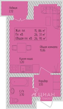 Продаюквартирустудию, Барнаул, Северо-Западная улица, 5, Купить квартиру в Барнауле по недорогой цене, ID объекта - 322826755 - Фото 1