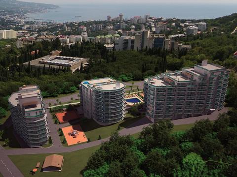 Однокомнатная квартира в жилом комплексе пгт Виноградное, Ялта - Фото 3