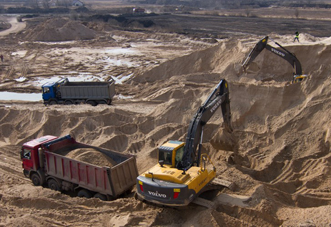 Карьер по добыче щебня, гравия и песка