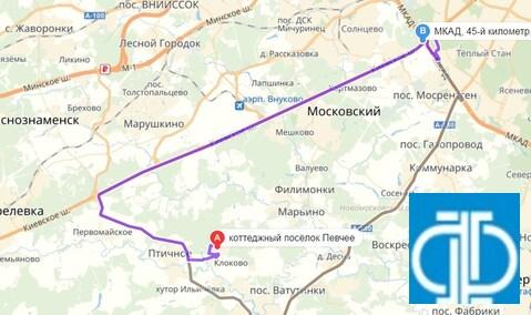 Продается участок. , Клоково д, коттеджный поселок Певчее - Фото 3