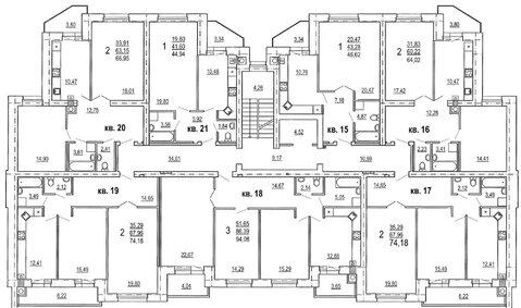 1к квартира, Брылевка 45 м, 4/9 эт. - Фото 2