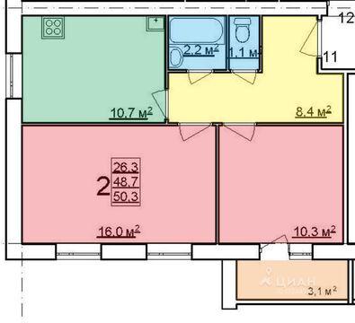 2х-комнатная квартира в Щедрино - Фото 3