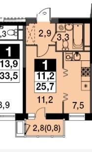 Продам 1-к квартиру, Бородино, жилой комплекс Ап-квартал Скандинавский . - Фото 2