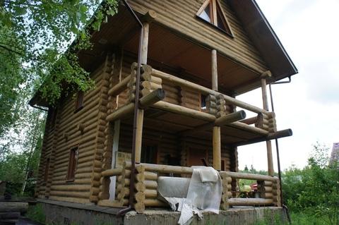 Дом терем их тесаного бревна в Новой Москве. - Фото 2