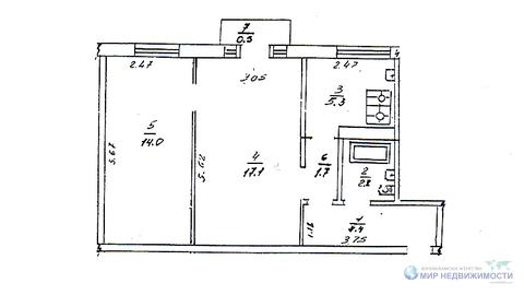 Ддвухкомнатная квартиры в пгт. Сычево. 85 км. от МКАД по Новой Риге. - Фото 2