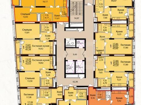 2 402 400 Руб., Продажа однокомнатной квартиры в новостройке на Коммунистической ., Купить квартиру в Уфе по недорогой цене, ID объекта - 320177677 - Фото 1