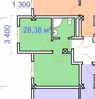 Сочи, ул Каспийская, 2-й этаж, 28,38кв.м, Купить квартиру в Сочи по недорогой цене, ID объекта - 321581893 - Фото 1
