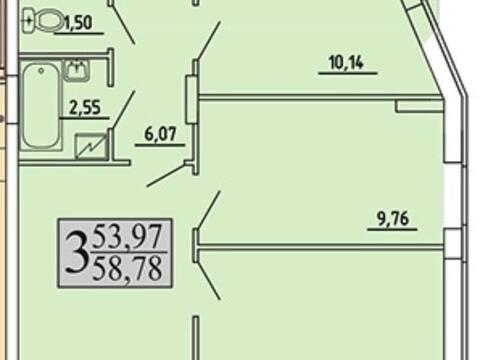 Продажа трехкомнатной квартиры в новостройке на улице Хользунова, 99 в ., Купить квартиру в Воронеже по недорогой цене, ID объекта - 320571916 - Фото 1