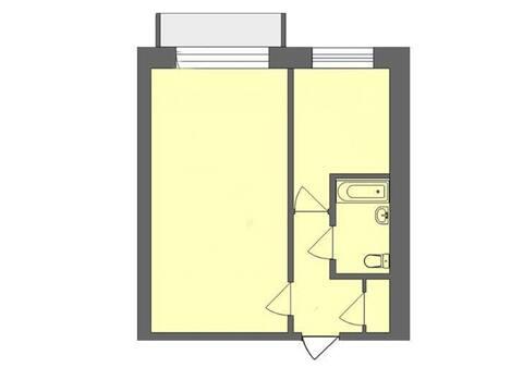 1 790 000 Руб., Продажа однокомнатной квартиры на Кольцевой улице, 48а в Магадане, Купить квартиру в Магадане по недорогой цене, ID объекта - 319880140 - Фото 1