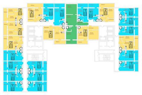 Продажа трехкомнатные апартаменты 73.3м2 в ЖК Олимп - Фото 2