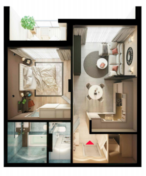 1 ком Квартира в квартале Эко-комфорт класса Русская Европа - Фото 1