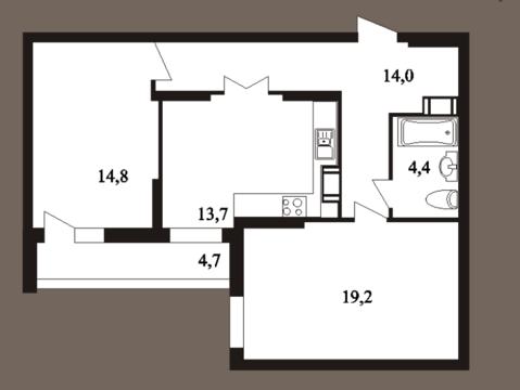 2-к квартира, 70,8 м2, 24/25 эт, пл. Ильинская, д. 5, стр. 4 - Фото 4