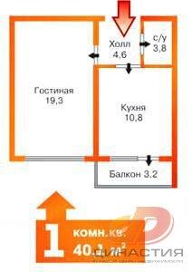 Продается 1 комнатная квартира в Юго-западном районе - Фото 2