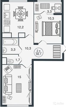 Двухкомнатная квартира в новом ЖК Норвежский квартал! - Фото 2