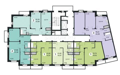 """Продам 3-комн. квартира 95,61 кв.м. в ЖК """"Изумрудная Долина"""" д.№ 3"""