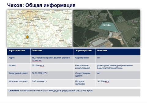 Земля в Московской области г. Чехов, 29 га в собственности