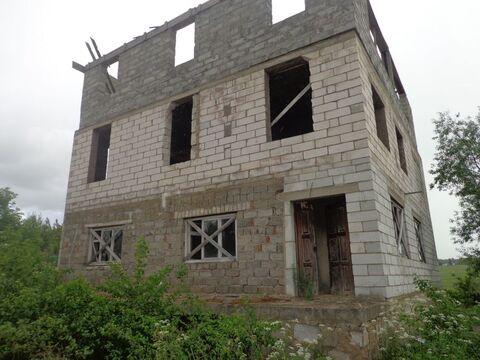 Незавершенный строительством объект жилого дома пл 284 м в г. Кашира . - Фото 1